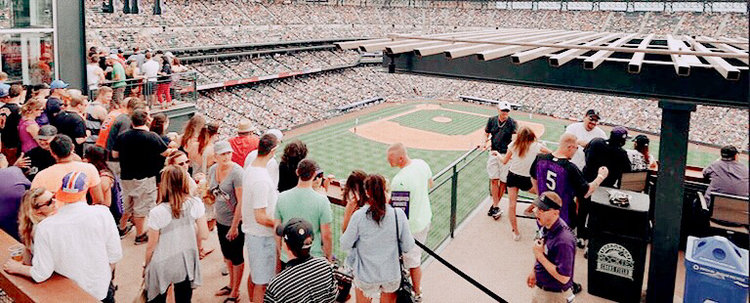 people in a stadium