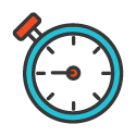 Clock Icon 125px by 125px